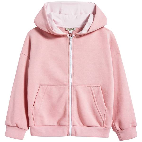 Girls Middle Pink Cotton Cradigan