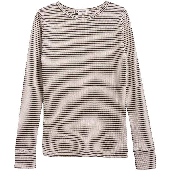 Girls & Boys Sand And Chocolate Stripe Cotton Jersey T-shirt