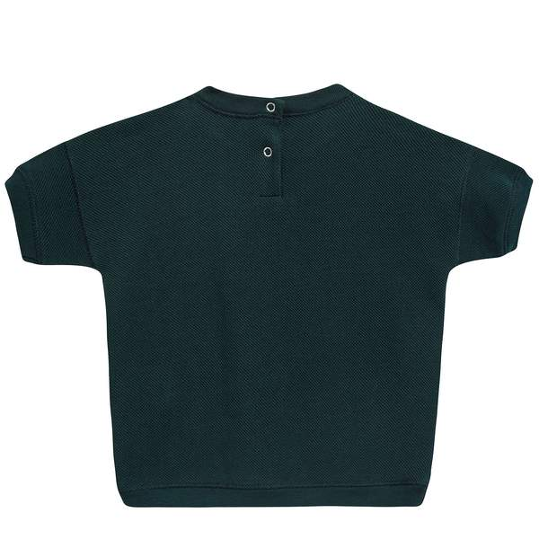 Baby Forest Green Cotton Jersey T-Shirt