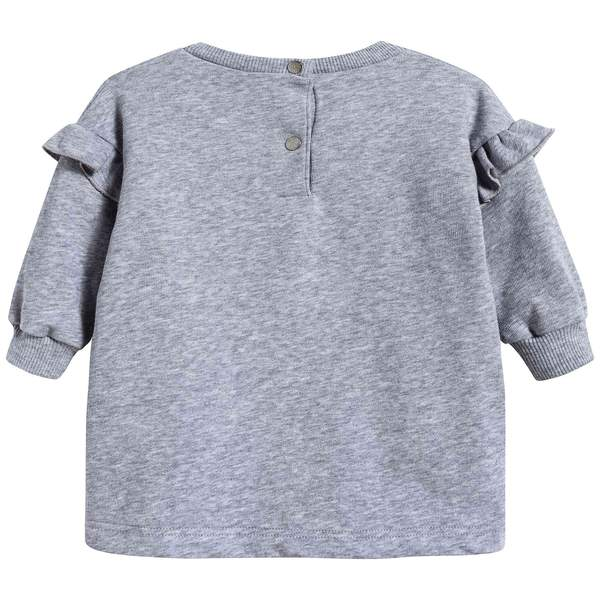 Baby Girls Marl Grey Cotton Dress