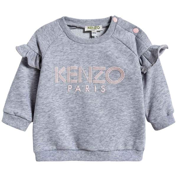 Baby Girls Marl Grey Cotton Sweatshirt