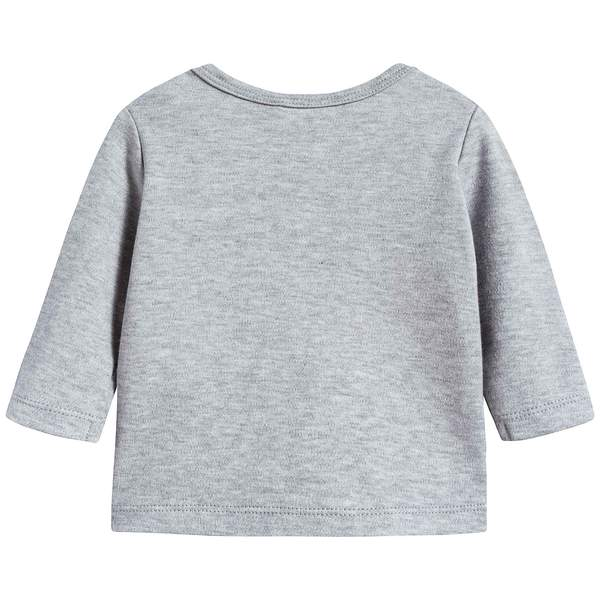 Baby Boys Marl Grey Cotton T-shirt