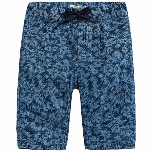 Baby Boys Middle Indigo Cotton Trousers