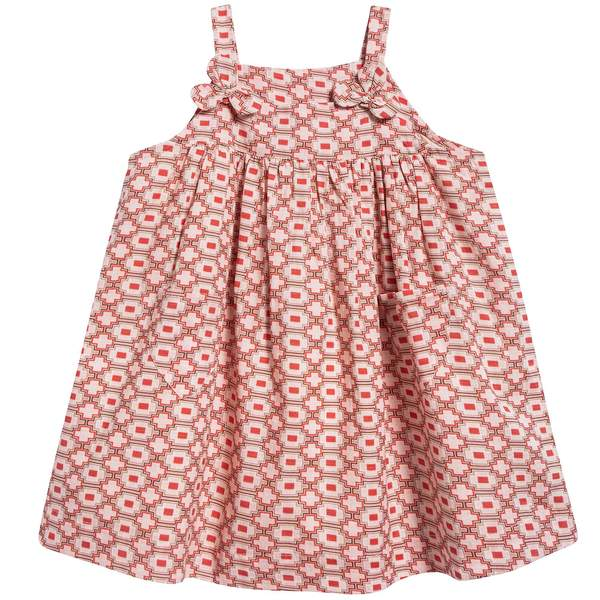 Baby Girls Kaleido Red Woven Dress