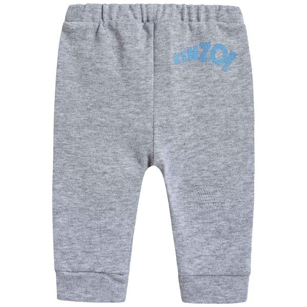 Baby Boys Marl Grey Cotton Trousers