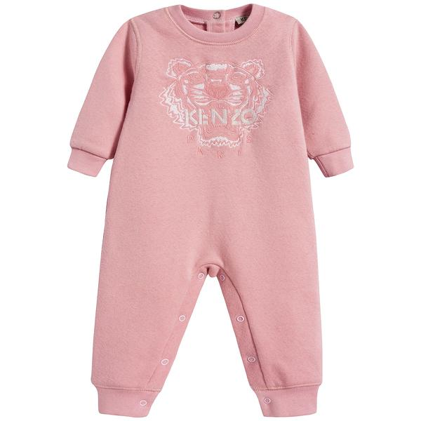 Baby Girls Middle Pink Cotton Babysuit