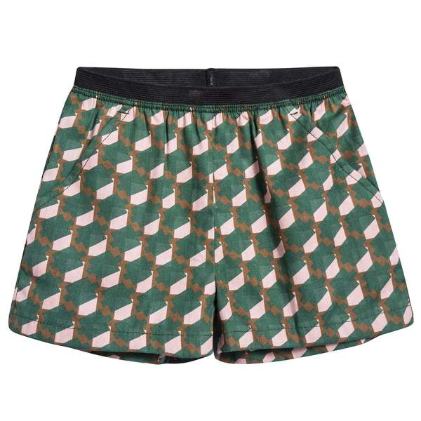 Baby Girls Mint & Pink Woven Shorts