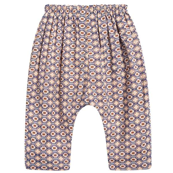Baby Kaleido Blue Woven Trousers