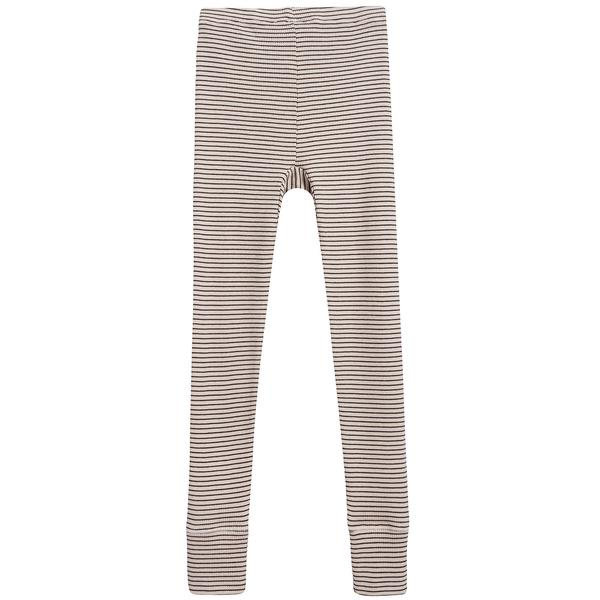 Girls & Boys Sand & Chocolate Stripe Cotton Jersey Trousers