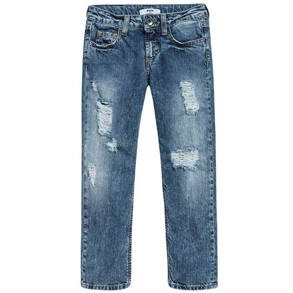 Boys Denim Blue Cotton Jeans