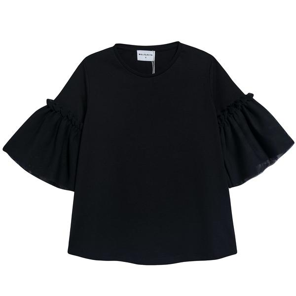Girls Black Cotton Top