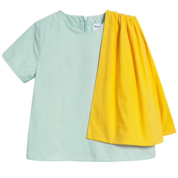 Girls Pistachio Cotton Blouse