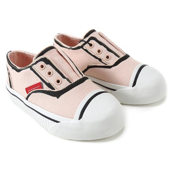 Baby Girls Pale Rose Pink Cotton Trainers