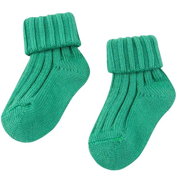 Baby Bright  Green Cotton Knitwear Socks