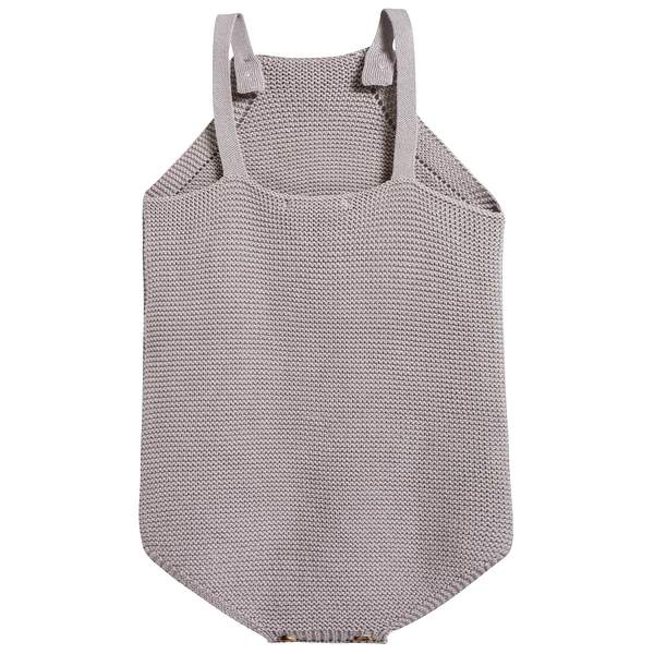 Baby Light Heather Cotton Knitwear Romper