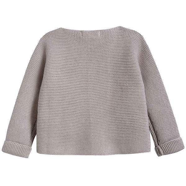 Baby Light Heather Cotton Knitwear Cardigan