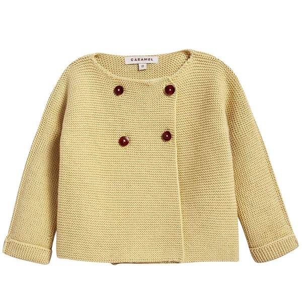 Baby Lemon Cotton Knitwear Cardigan