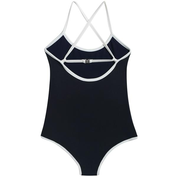 Girls Dark Blue Jersey Swimsuit