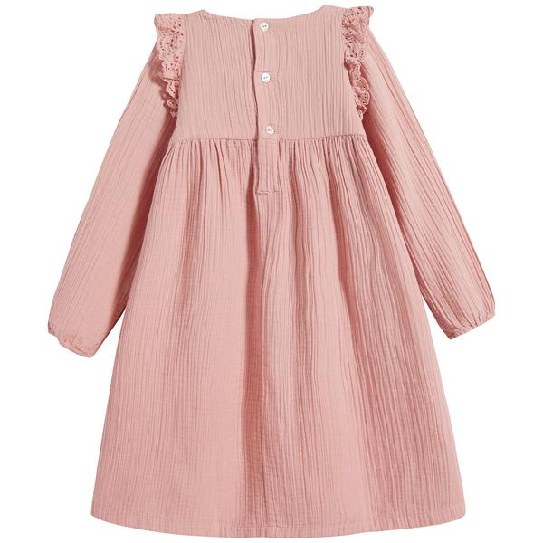 Girls Pink Cotton Dress