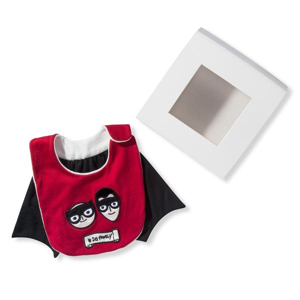 Baby Bib Red Superhero Cape