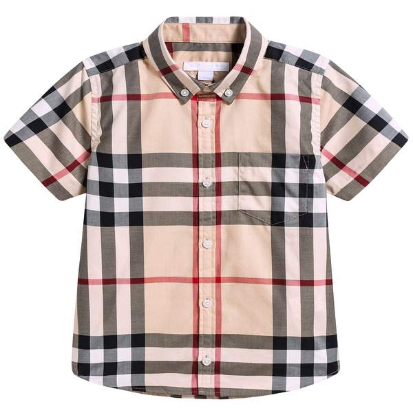 Girls Beige Check Polo Shirt