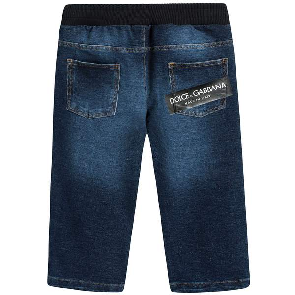 Baby Boys Blue Jean Cotton Trousers