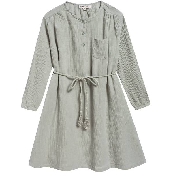 Girls Egret Cotton Woven Dress