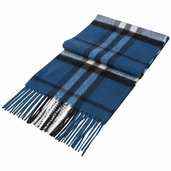 Boys Cadet Blue Cashmere Scarves