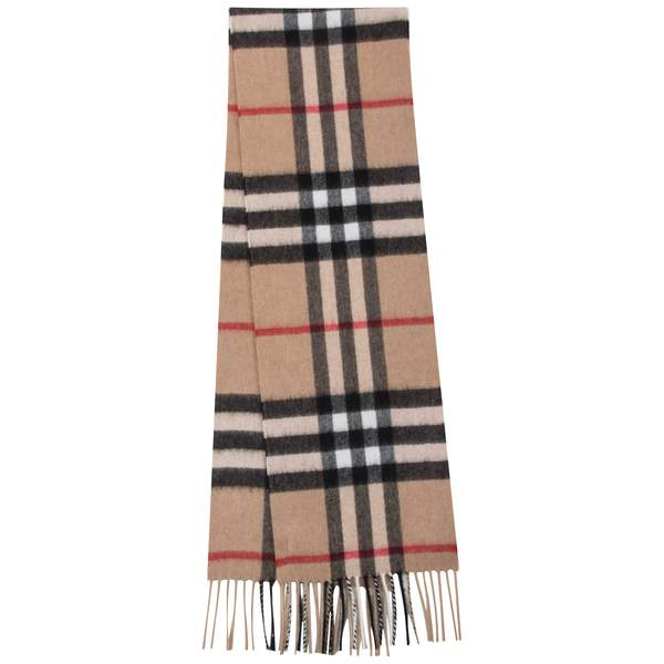 Girls & Boys Camel Check Cashmere Scarves