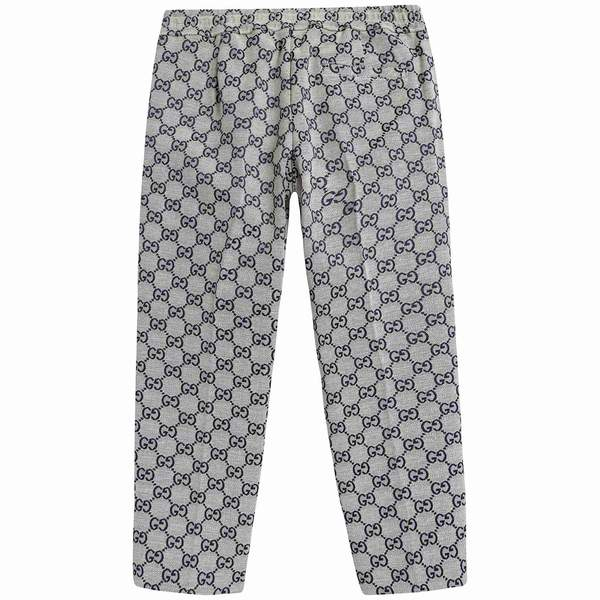 Boys Beige GG Cotton Trousers