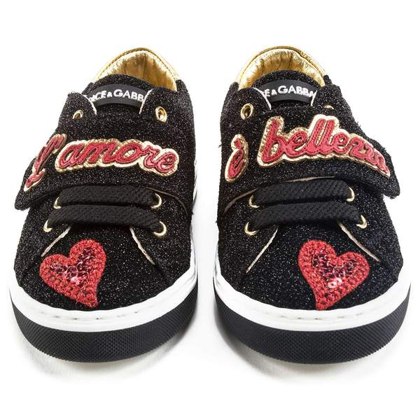 Boys Black Love Shoes