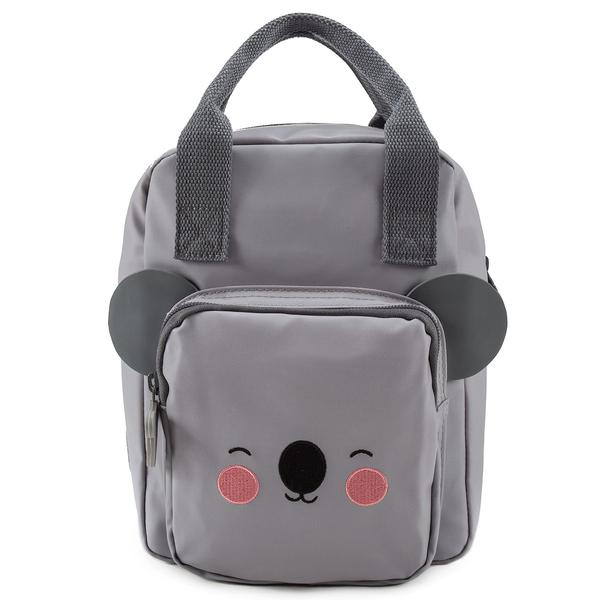 Girls Grey  Koala Faces Backpack(20 x 13 x 26 cm)