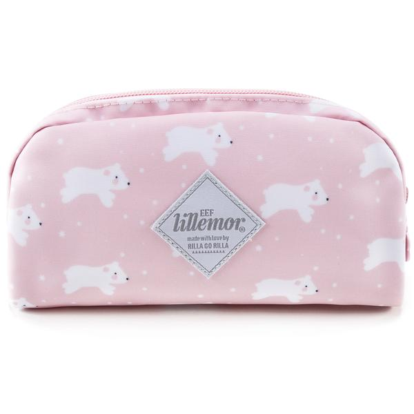 Girls Light Pink Dog Printed Pencil Pouch(21 x 11cm)