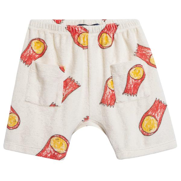 Baby Raw White Halleys Cotton Shorts