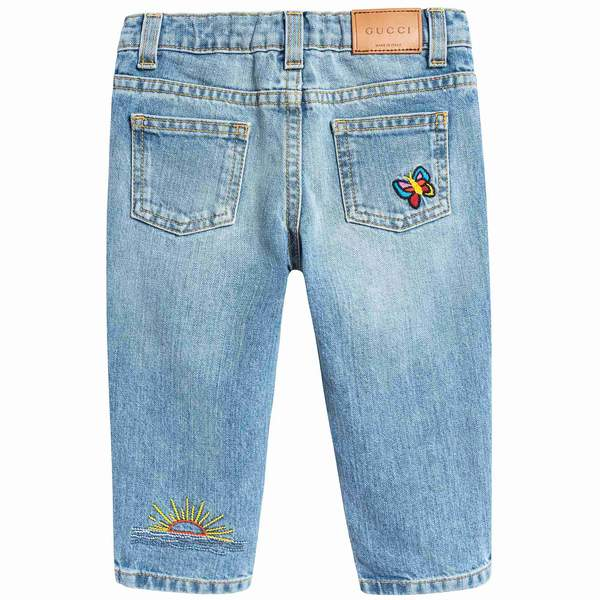 Baby Girls Blue Cactus Trousers