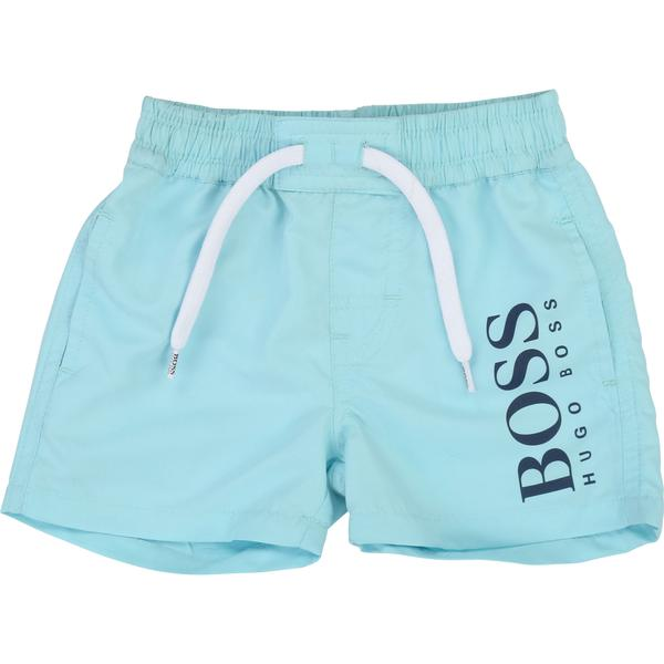 Boys Light Blue Surfer Cotton Shorts