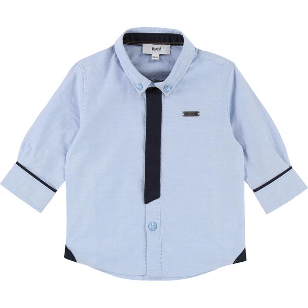 Baby Boys Light Blue Cotton Shirt