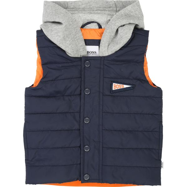 Baby Boys Blue Sleeveless Cotton Jacket
