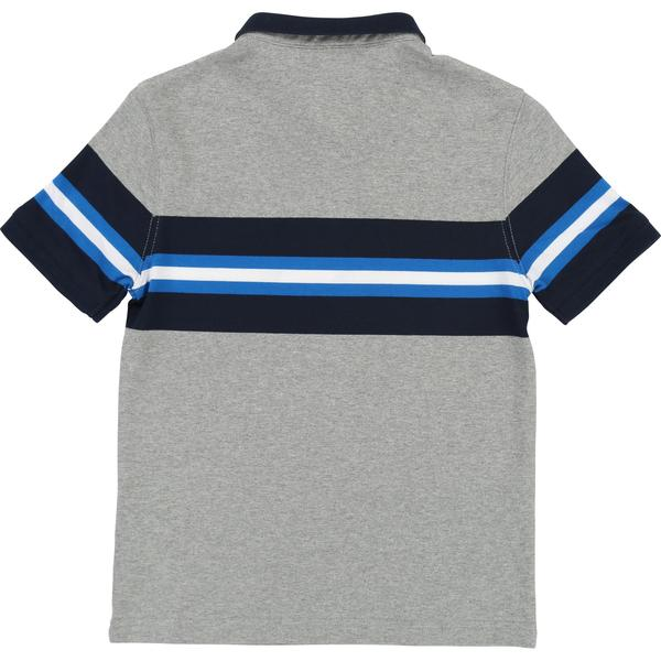 Boys Grey Polo Cotton Shirt
