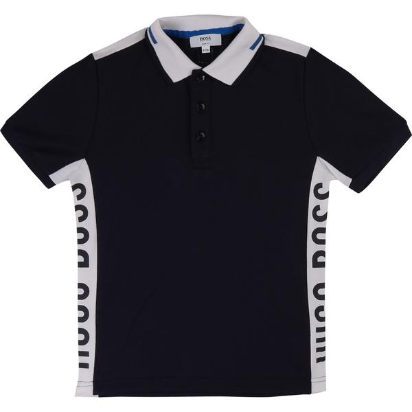 Boys Black Polo Cotton Shirt