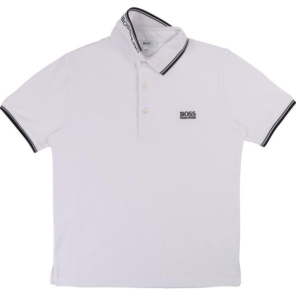 Boys White Polo Cotton Shirt