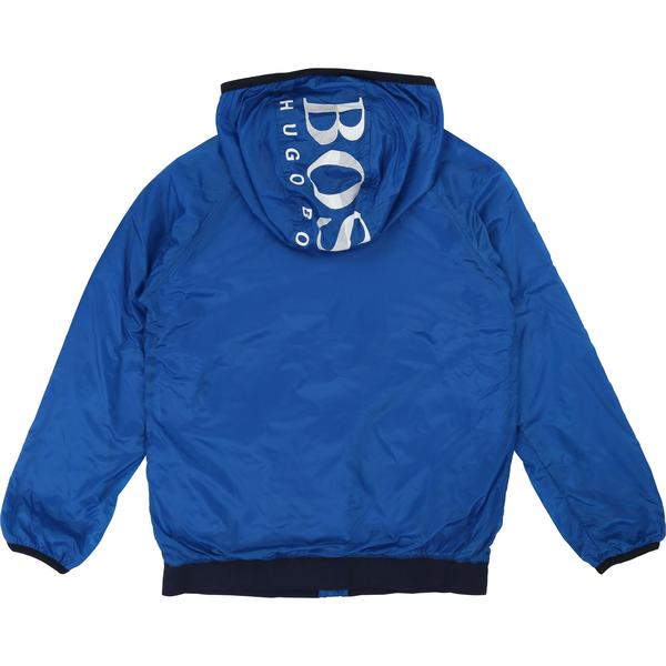 Boys Blue Hooded Coat