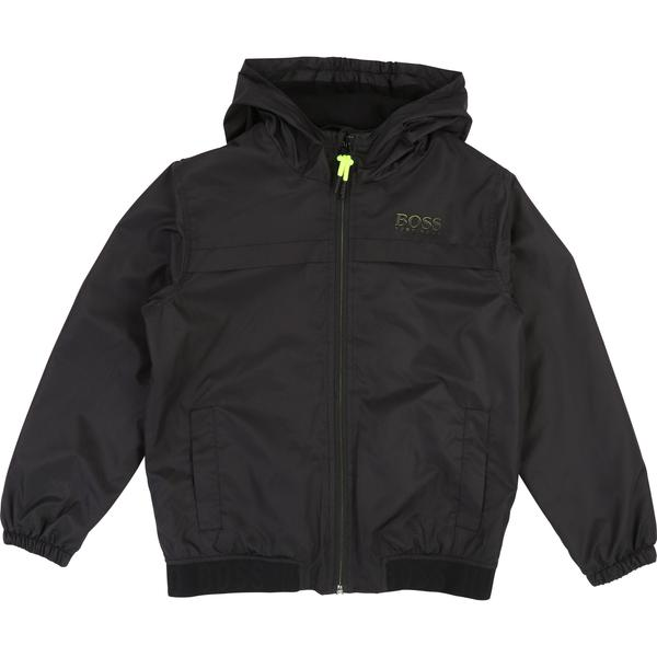 Boys Black Hooded Coat