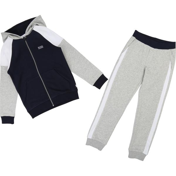 Boys Grey & Blue Cotton Sets