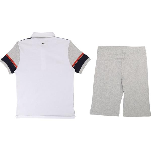 Boys Blue & Grey Polo Cotton Sets