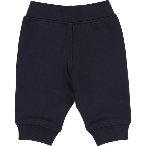 Baby Boys Blue Cargo Cotton Trousers