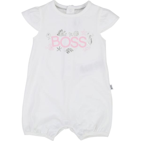 Baby Girls White Cotton Babysuits