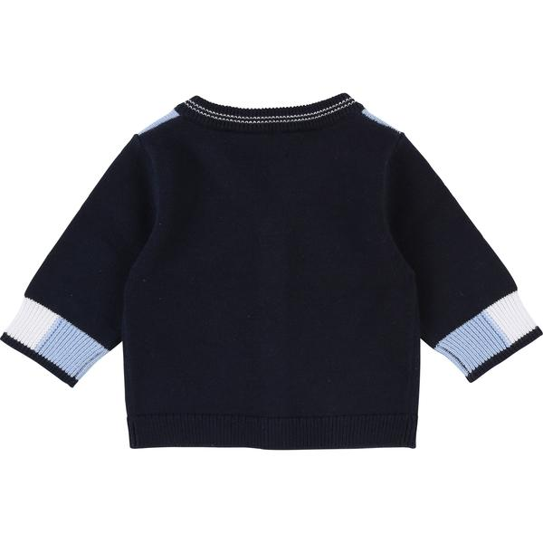 Baby Boys Blue Cargo Cotton Cardigan
