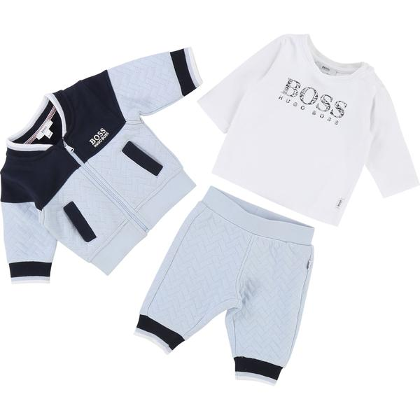 Baby Boys Blue & White Cotton Set