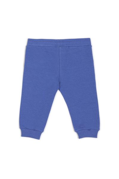 Baby Boys & Girls Blue Logo Cotton Trousers